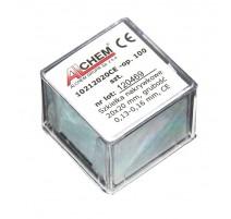 Dengiamieji stikliukai preparatams 100 vnt. (20x20mm) Preparatai