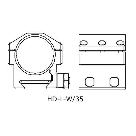 IOR HD-L-W/35 mount